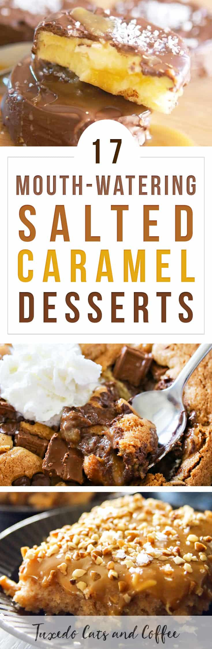 I LOVE salted caramel flavored everything! In fact, right now I'm drinking coffee with salted caramel mocha creamer. Delish! Here are 17 mouth-watering salted caramel desserts that will have you running to the kitchen to get baking.