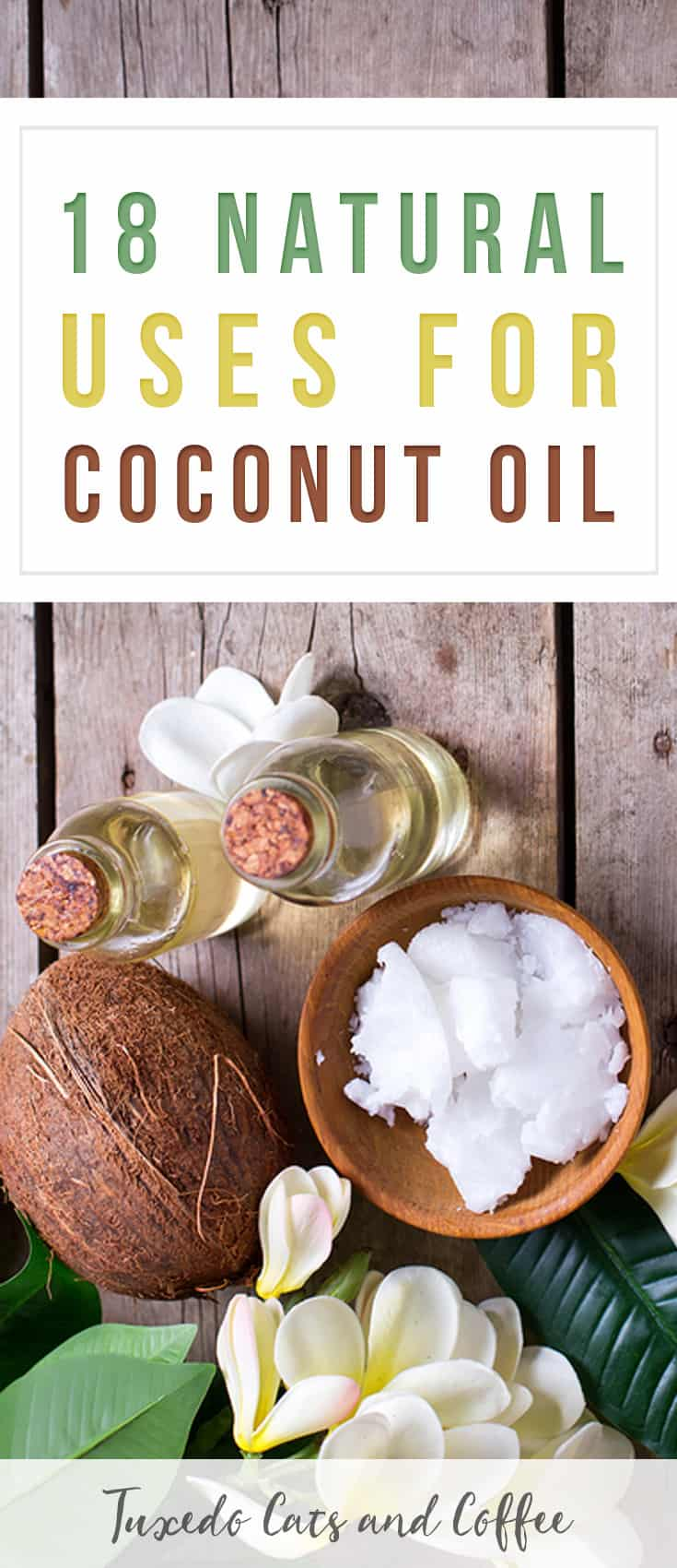 Coconut oil is an awesome multi-tasking natural oil that can be used as food, in beauty products and regimens, and even in your home in so many different ways! Here are 18 natural uses for coconut oil.