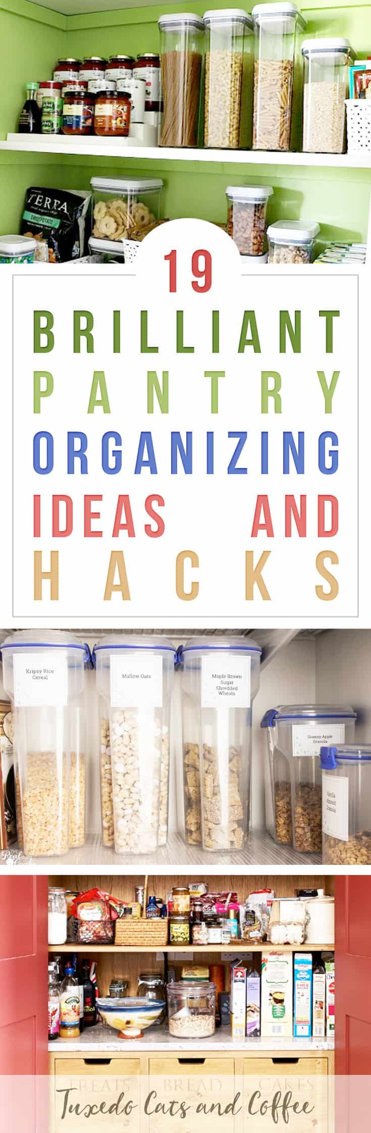 Got a messy pantry or food scattered all over the counters and random places in your kitchen? Get all your food together neatly with these 19 brilliant pantry organizing ideas and hacks.