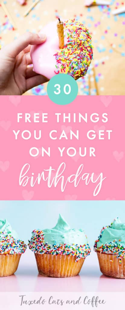 Did you know you can get a lot of different free things on your birthday? Many restaurants and some other companies will give you a free drink or food item on your birthday or during your birthday month if you sign up for their rewards or loyalty program in advance (sometimes a week in advance or even a month ahead of time). Here are more than 30 free things you can get on your birthday.