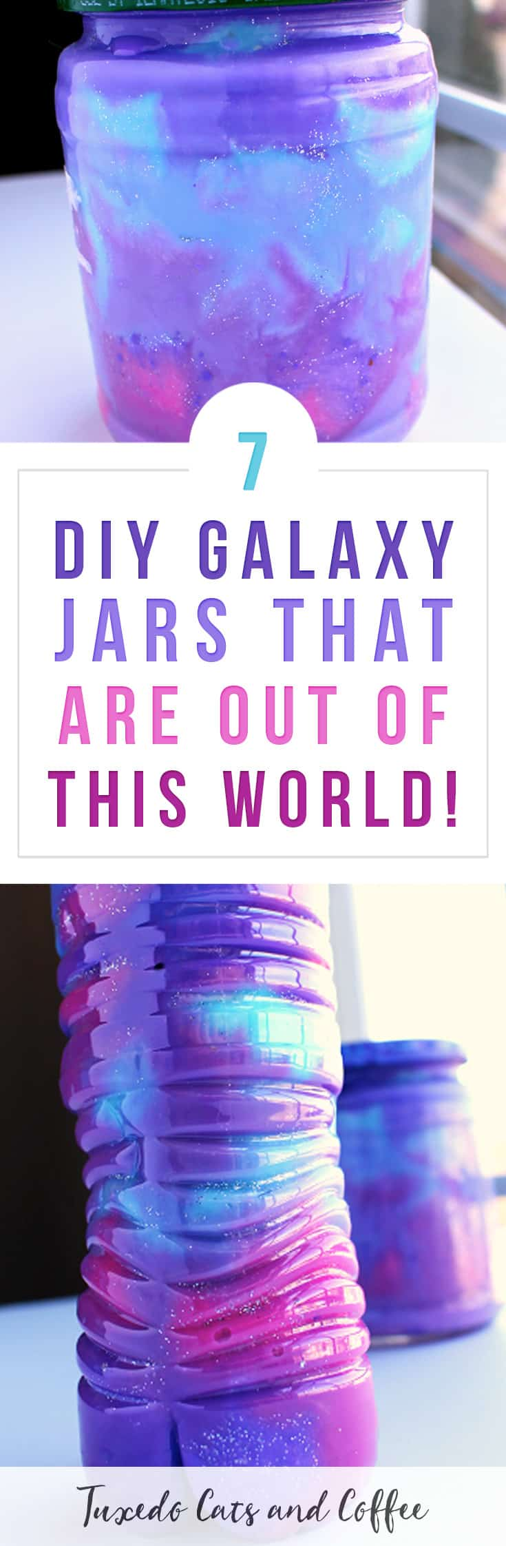 Galaxy jars, galaxy bottles, or nebula jars are a fun craft that uses cotton balls and paint to create your own pretty little galaxy in a jar! Here are 7 DIY galaxy jars that are out of this world.