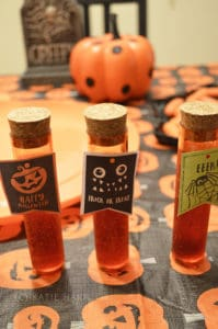 How to Make a Fake Blood Halloween Drink in Test Tubes
