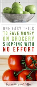 Do you struggle with spending too much money on groceries each week or month? Do you get tempted by all the tasty new foods you see in the store and make impulse purchases? Here is one easy trick to save money on grocery shopping without any effort!