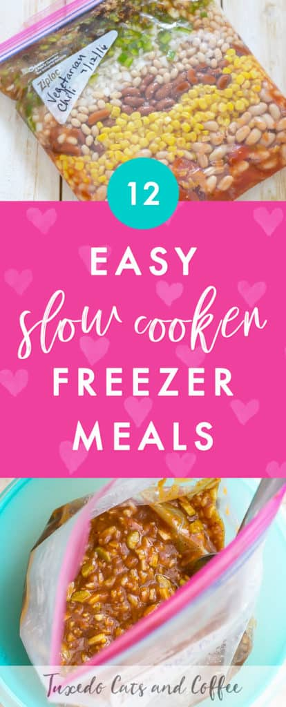 Do you want a quick and delicious meal that you can not only prepare ahead of time and stick in the freezer, but all you need to cook it is to throw it in the crock pot? Here are 12 easy slow cooker freezer meals, or time-saving crockpot freezer cooking recipes.