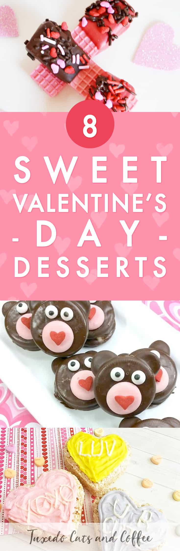 Love is in the air, and these 8 sweet Valentine's Day desserts and homemade treats will set a sweet and romantic tone for your loved ones this year.  Try making some of these Valentine's Day treats for a homemade Valentine's gift.