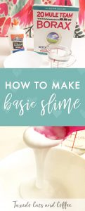 If you've been wondering how to make the slime craze that's all over Youtube and social media, here is a basic recipe for slime with the most standard method. Here's how to make basic slime with borax and glue.