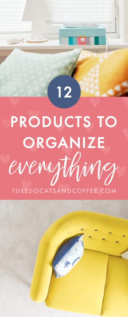 Sometimes DIY organizing solutions are very effective, but other times it's super helpful to actually have a very specific product to organize a particular area in your house. Here are 12 products to organize your entire home and finally keep the mess away!