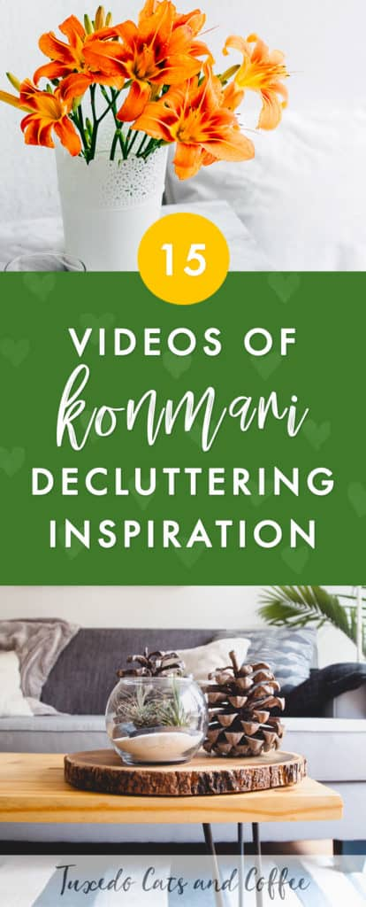 If you want to get your home organized and decluttered, the Konmari method developed by Marie Kondo is her book The Life-Changing Magic of Tidying Up is a great way to transform your life. Here are 15 videos of real-life decluttering and organizing for some Konmari decluttering inspiration in your journey.