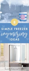 If you have a regular freezer, a chest freezer, or a deep freezer, you might have a big black hole of mysterious unorganized food and you're not really sure what's in there. Get your freezer organized and more usable with these 8 simple freezer organizing ideas.
