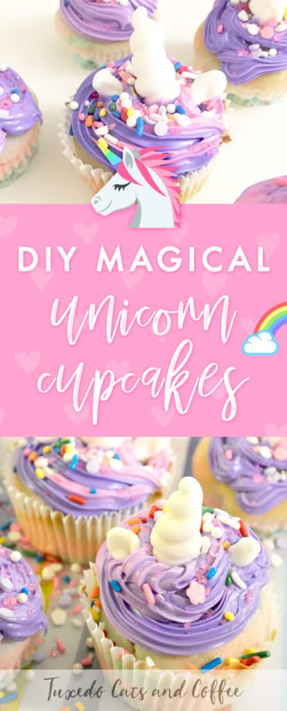 Do you love unicorns and all the pretty sparkles and bright colors that go along with them? Do you love sweets? Then you'll love these DIY magical unicorn cupcakes that are a fun and magical way to frost and decorate cupcakes!