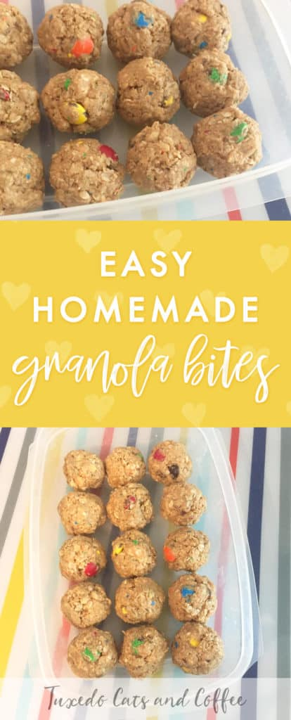 If you're looking for an easy, quick, and high protein snack for breakfast or any time during the day, these easy homemade granola bites are the perfect solution! My basic recipe has only 5 ingredients but it can easily be adapted to your preferences and requires no cooking or baking. :)