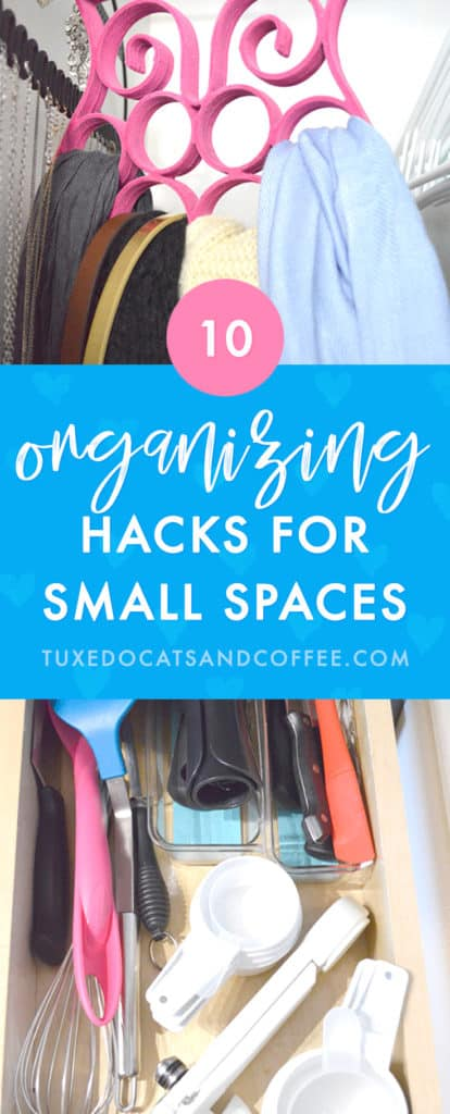 If you want to organize your things but are tight on space, finding creative ways to make use of little areas around your home is a great way to get organized in a functional, practical way. Here are 10 small space organizing hacks that can fit just about anywhere!
