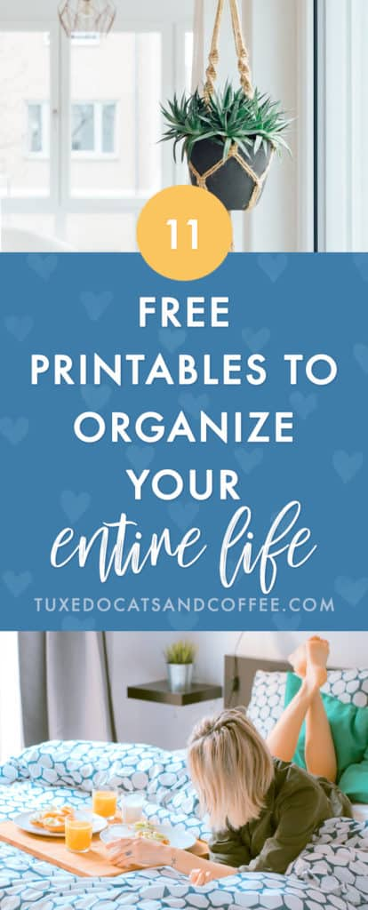 If you're ready to get your life together and everything organized - from your home to your meal planning, finances, and more - you'll love these free printables that you can use to organize just about anything. Here are 11 free organizing printables to organize your whole life.