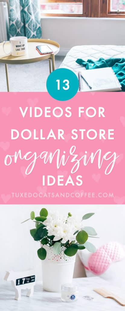 If you want to get organized on a budget, the Dollar Store or Dollar Tree is actually a great place for cute bins, containers, and other helpful organizing products for only a dollar each! Here are 13 videos for dollar store organizing ideas and inspiration to overhaul your home from top to bottom.
