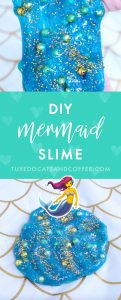This fun DIY slime project uses glitter glue, gold glitter, and a few simple ingredients to create a beautiful and magical underwater-looking DIY mermaid slime. You can make it in just minutes!