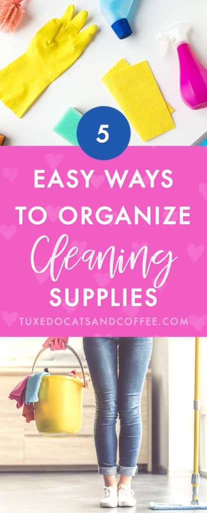 If you have a cleaning closet, linen closet, or a small closet or room for a washer and dryer, you might be looking for some organizing ideas for all your cleaning supplies. Here are our tips for how to organize cleaning supplies, or how to organize a cleaning closet with cleaning supplies.