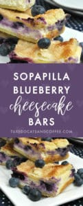 For a sweet treat with fresh fruit and a little spiciness from cinnamon, try making these sopapilla blueberry cheesecake bars.