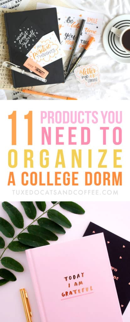 College dorm rooms are notoriously teeny tiny, plus you'll most likely be sharing one room with a roommate, so it can help to have some major space saving items and ideas in mind. Here are 11 items to help you organize your college dorm.
