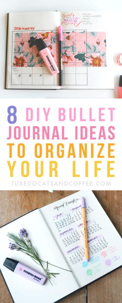 Bullet journaling is a fun way to plan and organize your days. Unlike a traditional planner, you get to be creative and literally create the pages as you go, as simply or artistically as you'd like. Here are 8 bullet journal ideas to organize your life.