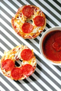 Easy Homemade Bagel Pizzas