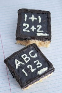 Back to School Chalkboard Rice Krispie Treats