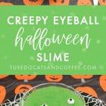 Creepy Eyeball Halloween Slime